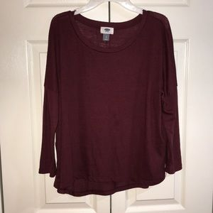 Maroon quarter sleeve shirt